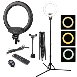 Кольцевая лампа BUCOS BCS F288 Ring Light 36 см со штативом