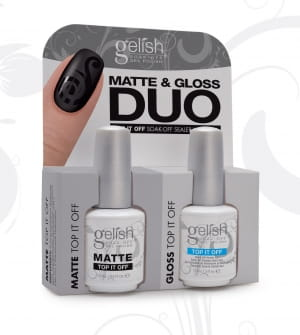Гель-лак Gelish Matte & Gloss Top-It-Off DUO