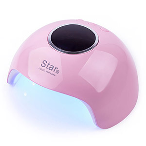 LED+UV Lamp STAR 6 24W Pink