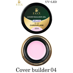 Гель камуфлирующий F.O.X Cover (camouflage) builder gel UV+LED 004, 15 мл