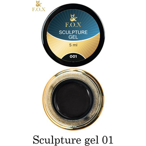 Гель-пластилин F.O.X Sculpture gel 001, 5 мл